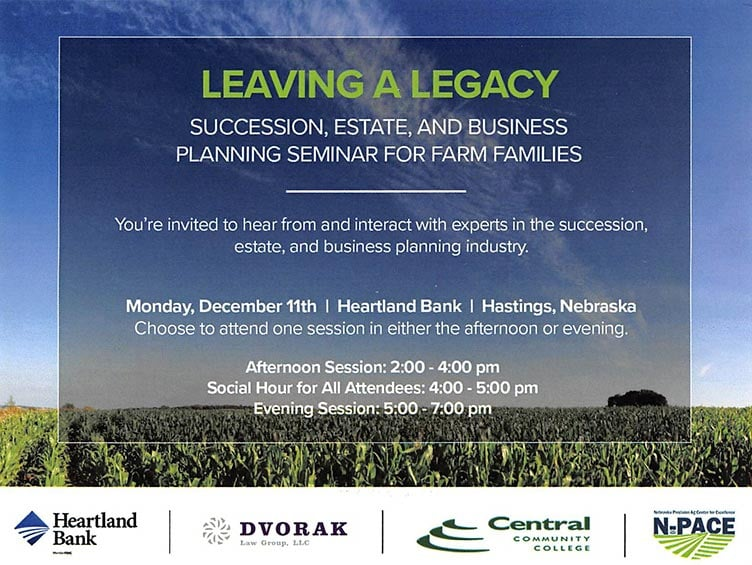 Farm Succession Seminar with CCC and Heartland Bank