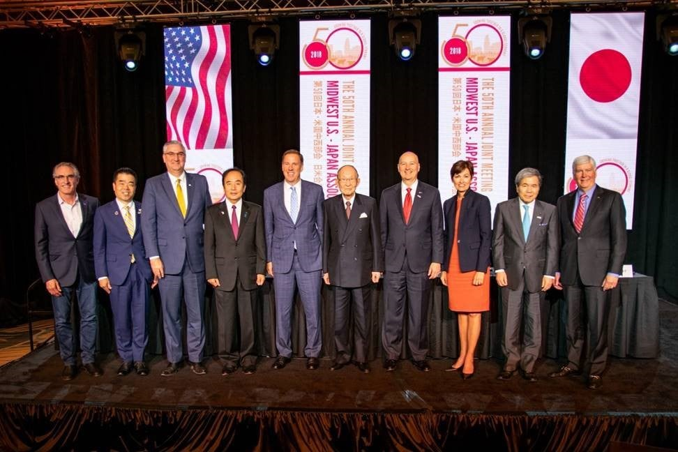 Gov. Ricketts hosted Japanese and American governors during the opening ceremony for the 50th Annual Midwest U.S.-Japan Association Conference in Omaha.