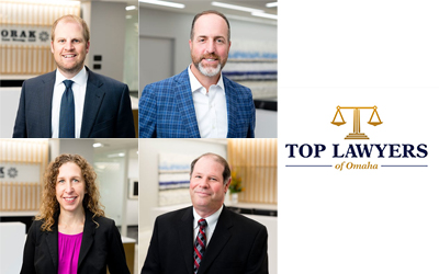Four Dvorak Law Group Attorneys Named to Omaha Magazine's Top Lawyers of Omaha List